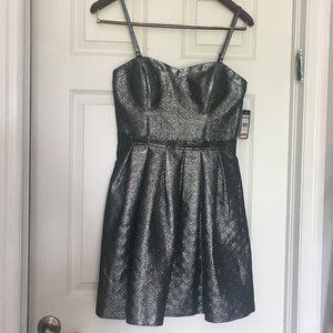 Guess LA Allison Metallic Sweetheart Dress